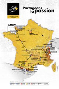 Tour de Francia mapa