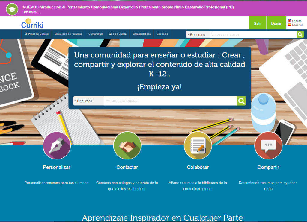 Curriki' Spanish website
